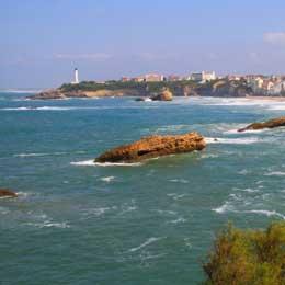 Plages à falaises de Biarritz
